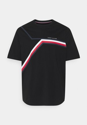 SIGNATURE CHEST STRIPE TEE - T-shirt med print - black