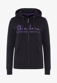 Oklahoma Jeans - REGULAR FIT - Zip-up hoodie - 19-3911 deep black - 5
