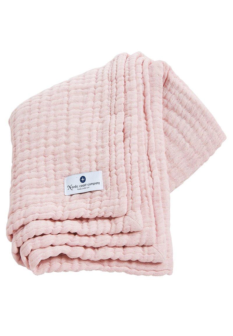 Nordic coast company - MUSSELINDECKE 4IN1 MULTIFUNKTIONSDECKE MUSSELIN GROSS - Muslin blanket - light pink
