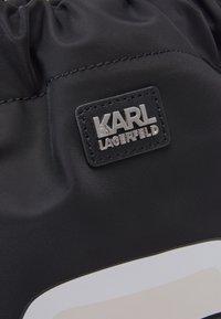 KARL LAGERFELD - IKONIK FLAT BACKPACK UNISEX - Tagesrucksack - black - 5