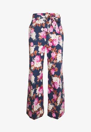 MOGOL - Kalhoty - dark blue/multi-coloured/pink