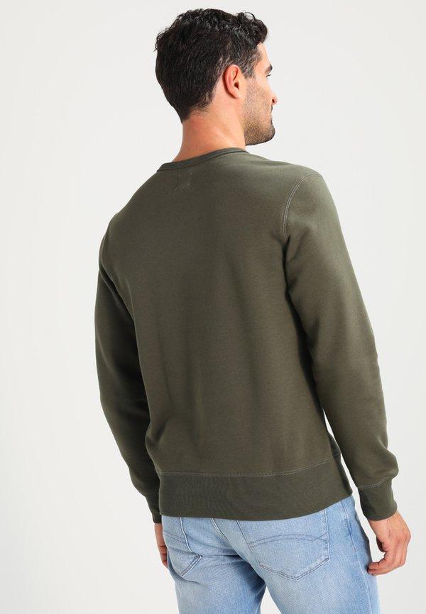 GAP ORIGINAL ARCH CREW - Bluza - black moss/ciemnozielony Odzież Męska VOGA