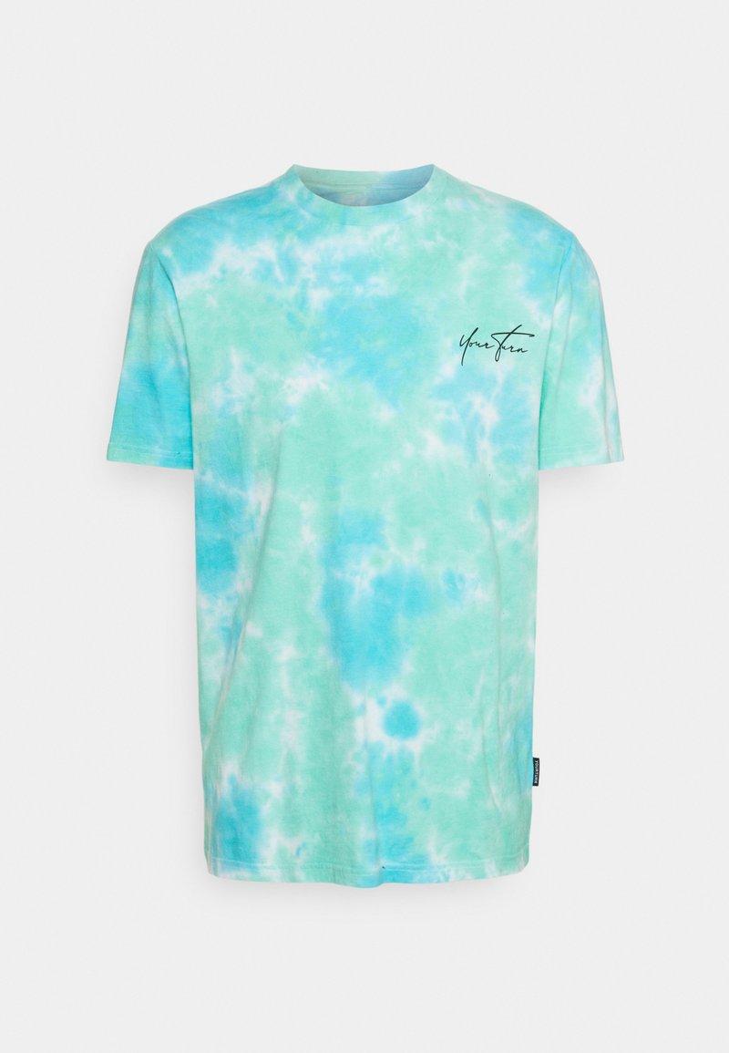 YOURTURN - UNISEX - Print T-shirt - blue/green