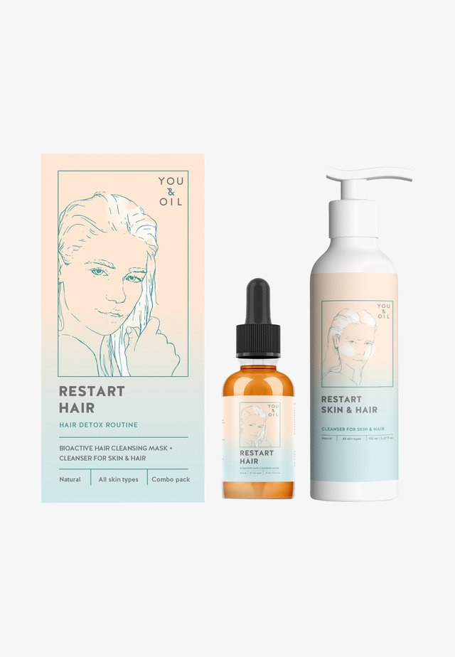 CLEANSING COMPLEX FOR HAIR: OIL MASK + CLEANSER - Zestaw do pielęgnacji - -