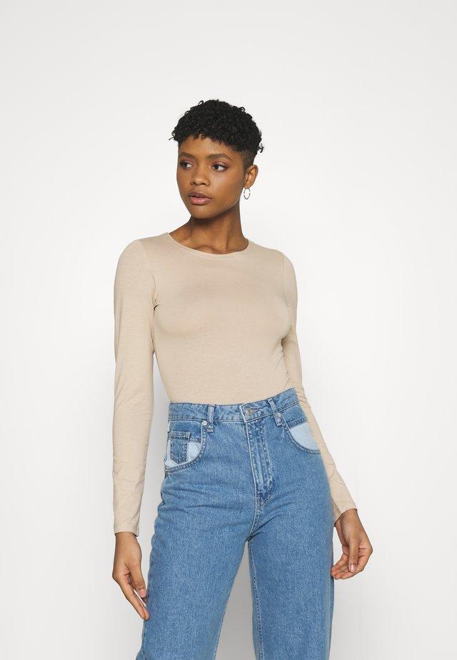 AMY BODY - T-shirt à manches longues - oxford tan