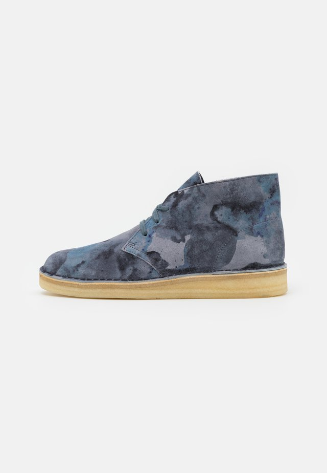 DESERT COAL - Casual lace-ups - blue