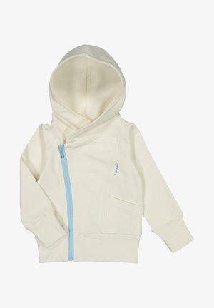 Zip-up sweatshirt - white sand/baby blue