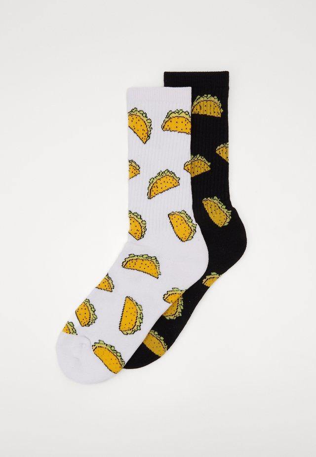 TACO SOCKS 2 PACK - Socks - black/white