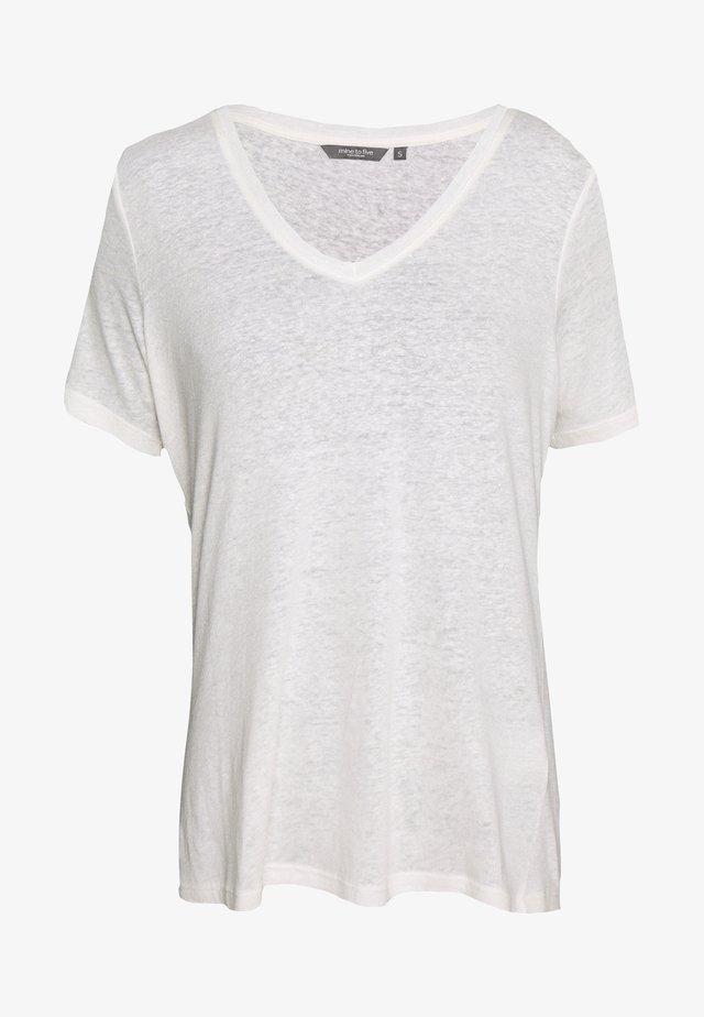 T-shirt basic - soft ecru