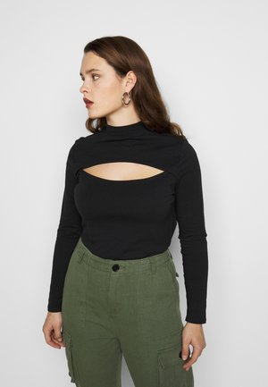 CUT OUT TURTLE - Long sleeved top - black