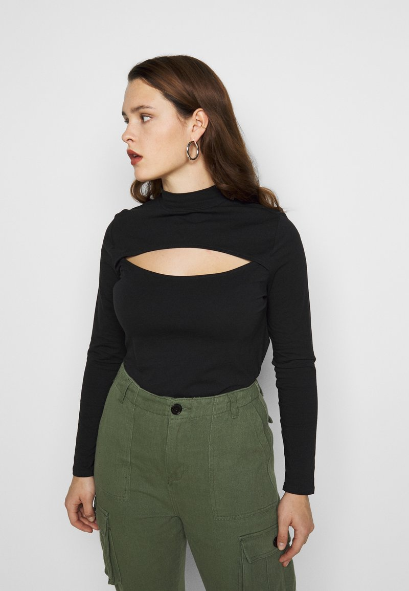 New Look Curves - CUT OUT TURTLE - Long sleeved top - black