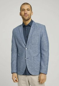 TOM TAILOR - Blazer jacket - woven blue melange - 0