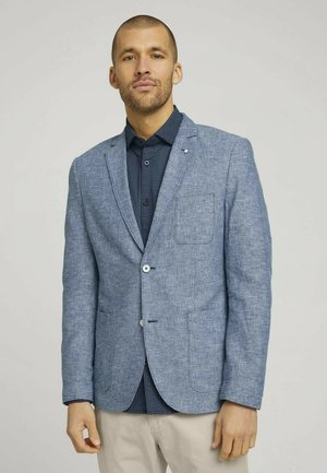 Blazer jacket - woven blue melange