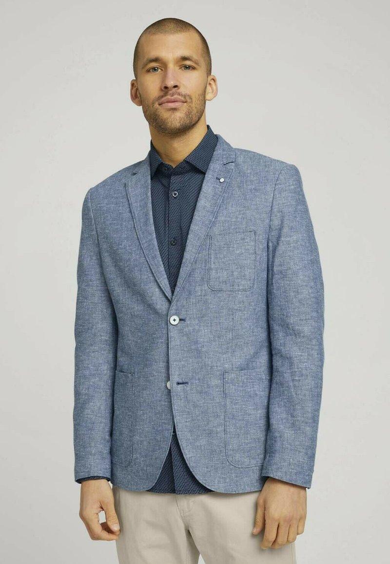 TOM TAILOR - Blazer jacket - woven blue melange