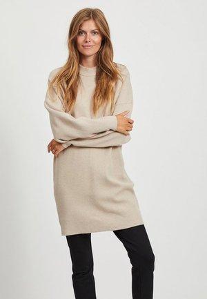 Gebreide jurk - natural melange