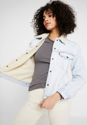 EX-BF SHERPA TRUCKER - Veste en jean - warm as toast