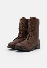 TOM TAILOR - Lace-up boots - cognac - 1