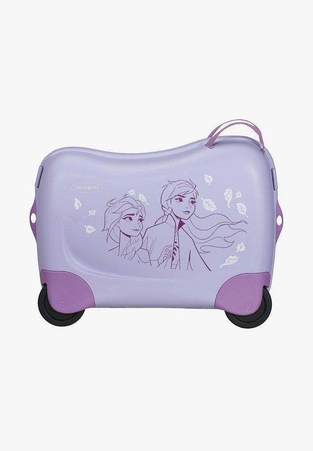 ZUM DRAUFSITZEN - Wheeled suitcase - mottled lilac