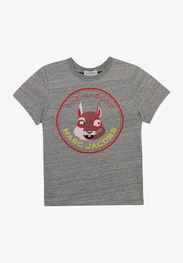 SHORT SLEEVES - T-shirt imprimé - gris chine acier