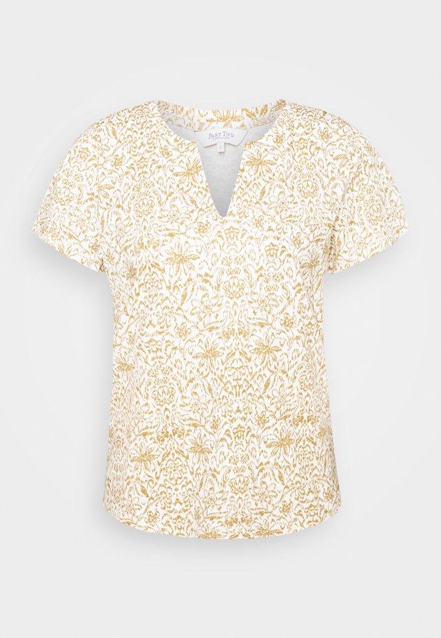 GESINA - Print T-shirt - white