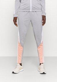 adidas Performance - COLORBLOCK - Tracksuit - ambient blush/medium grey heather/white - 3