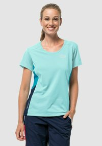 Jack Wolfskin - Print T-shirt - powder blue - 0