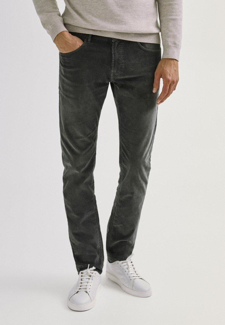 Massimo Dutti - ENTBASTETE  - Trousers - grey
