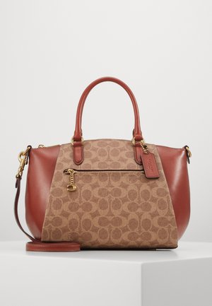 SIGNATURE ELISE SATCHEL - Handtasche - tan rust