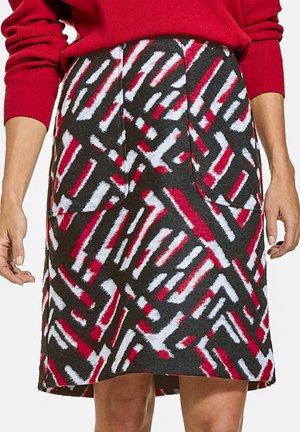 A-line skirt - schwarz rot orange druck