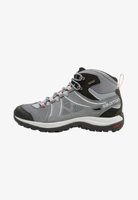 Salomon - ELLIPSE 2 MID GTX - Chaussures de marche - lead/stormy weather/coral almond - 0
