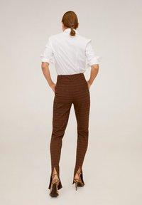 Mango - HEMD AUS BAUMWOLL-MIX - Button-down blouse - cremeweiß - 2