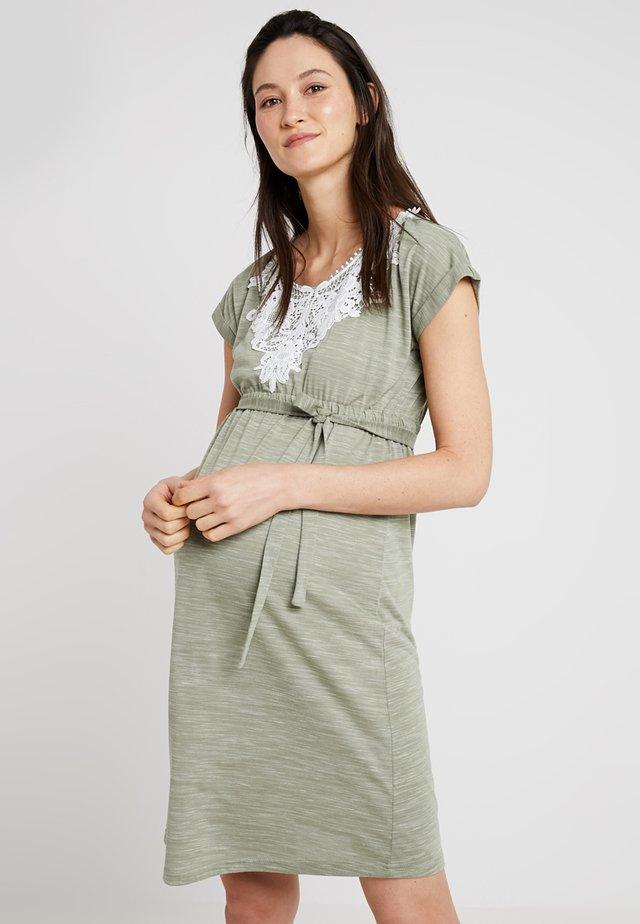MLALICE DRESS - Jerseykjoler - oil green melange