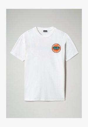 S-ALHOA - T-shirt print - white graph m
