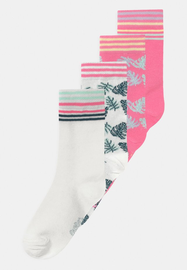 LEAVES 4 PACK - Calze - off-white/pink