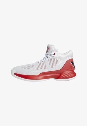 D ROSE 10 SHOES - Basketball shoes - grey/red/white