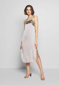 MANÉ - NOCTIS DRESS - Cocktail dress / Party dress - dove grey/gold - 1