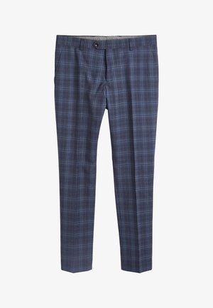 TG DI FABIO SIGNATURE CHECK - Pantaloni eleganti - blue