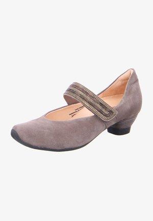 AIDA - Ankle strap ballet pumps - grau