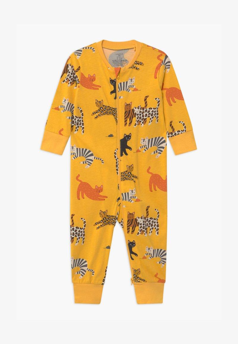 Lindex - CAT STORY UNISEX - Pyjama - dark dusty yellow