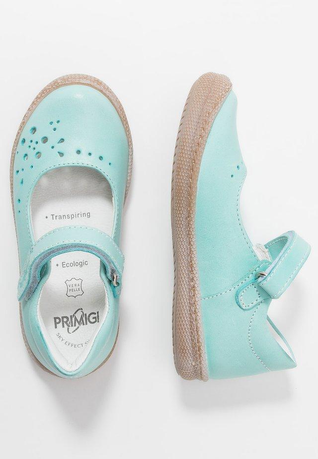 Ankle strap ballet pumps - aquamarina