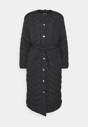 PCFAWN LONG QUILTED  - Classic coat - black
