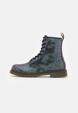 1460 SPOT METALLIC  - Lace-up ankle boots - iridescent black