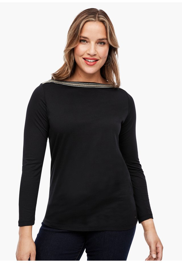 MIT SCHMUCK-APPLIKATION - Blouse - black