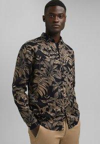 Esprit - MIT BOTANIK-PRINT - Shirt - black - 0