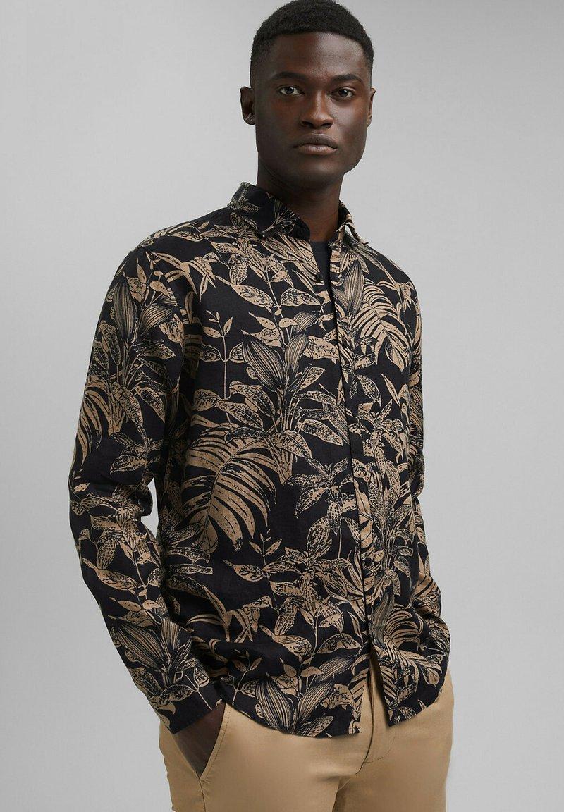 Esprit - MIT BOTANIK-PRINT - Shirt - black