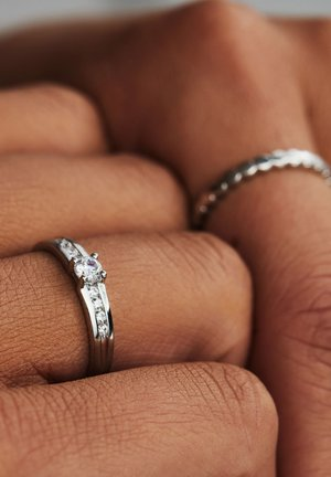 14 CARAT GOLD - Ring - silber
