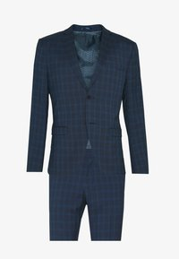 RECYCLED CHECK - Kostuum - dark blue