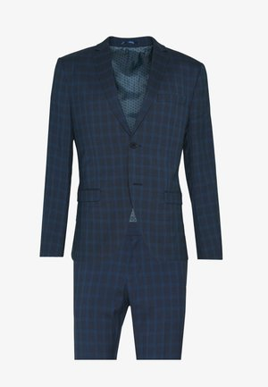 RECYCLED CHECK - Suit - dark blue