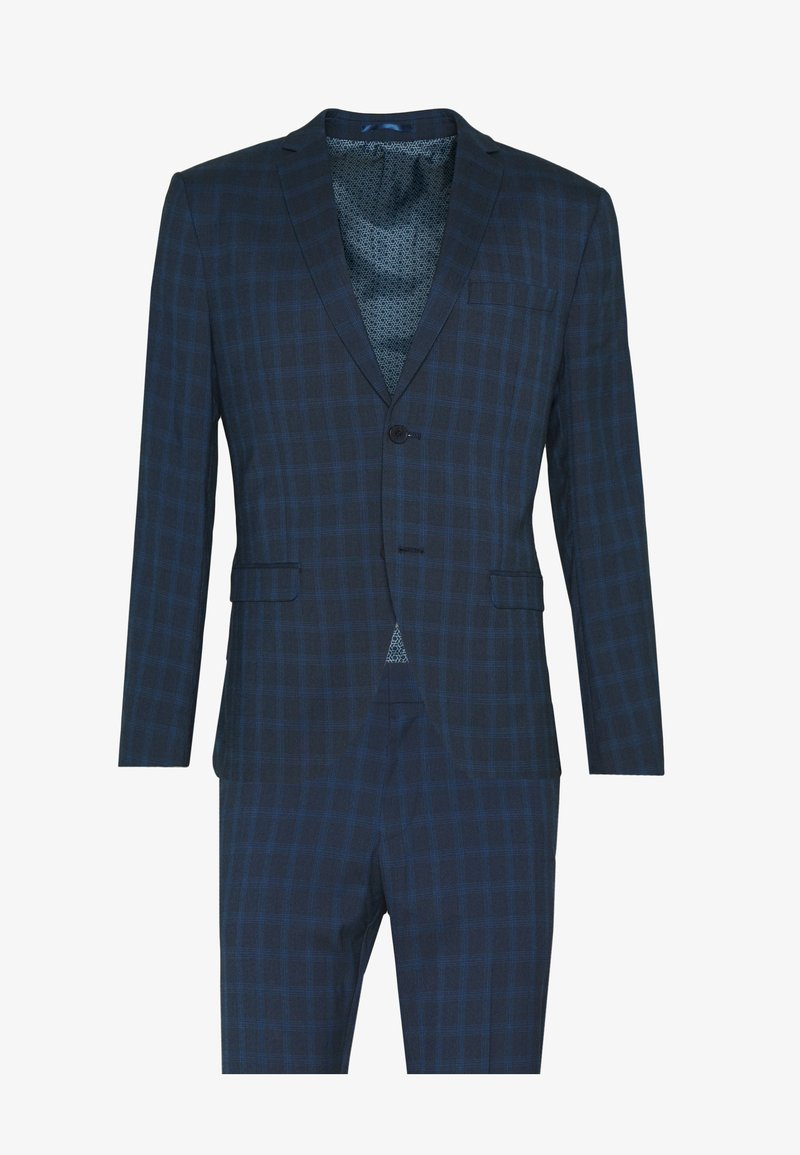 Isaac Dewhirst - RECYCLED CHECK - Oblek - dark blue