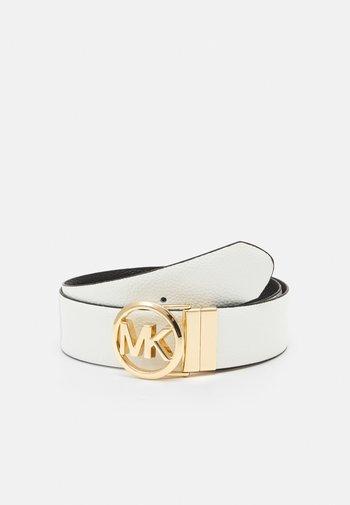 REVERSIBLE BELT - Belt - optic white/black/gold-coloured